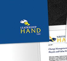 Leadership Hand Consulting Corporate Media Kit - click to view more Print Design projects.